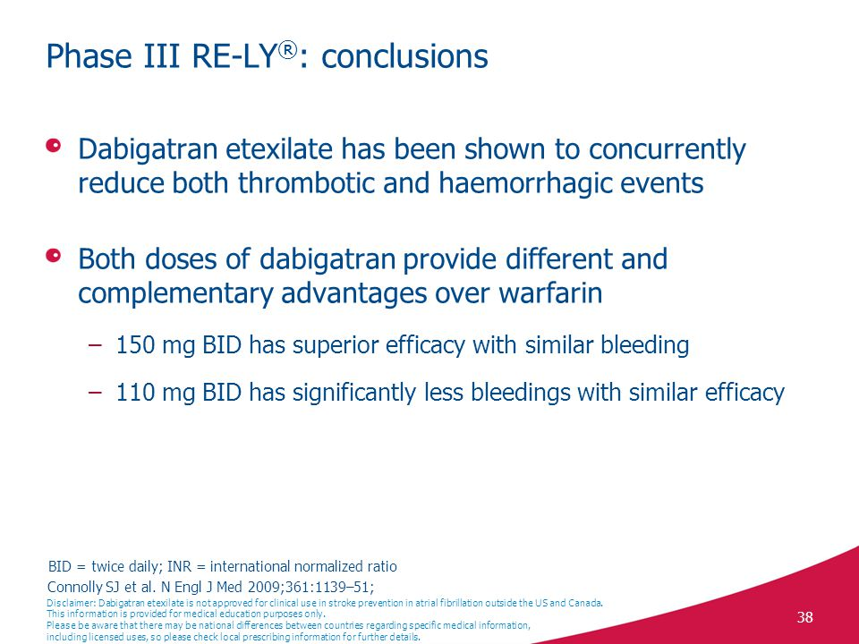 Phase III RE-LY®: conclusions