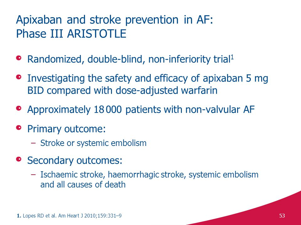Apixaban and stroke prevention in AF: Phase III ARISTOTLE