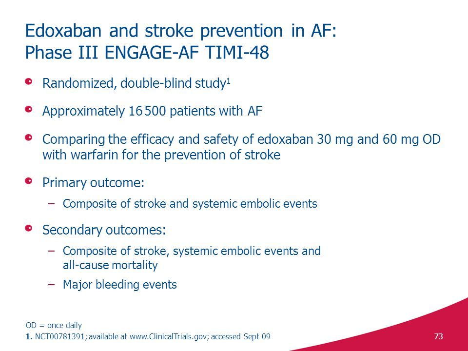 Edoxaban and stroke prevention in AF: Phase III ENGAGE-AF TIMI-48