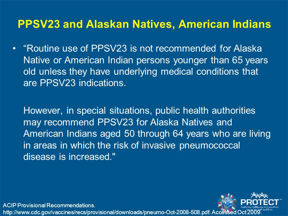 PPSV23 and Alaskan Natives, American Indians