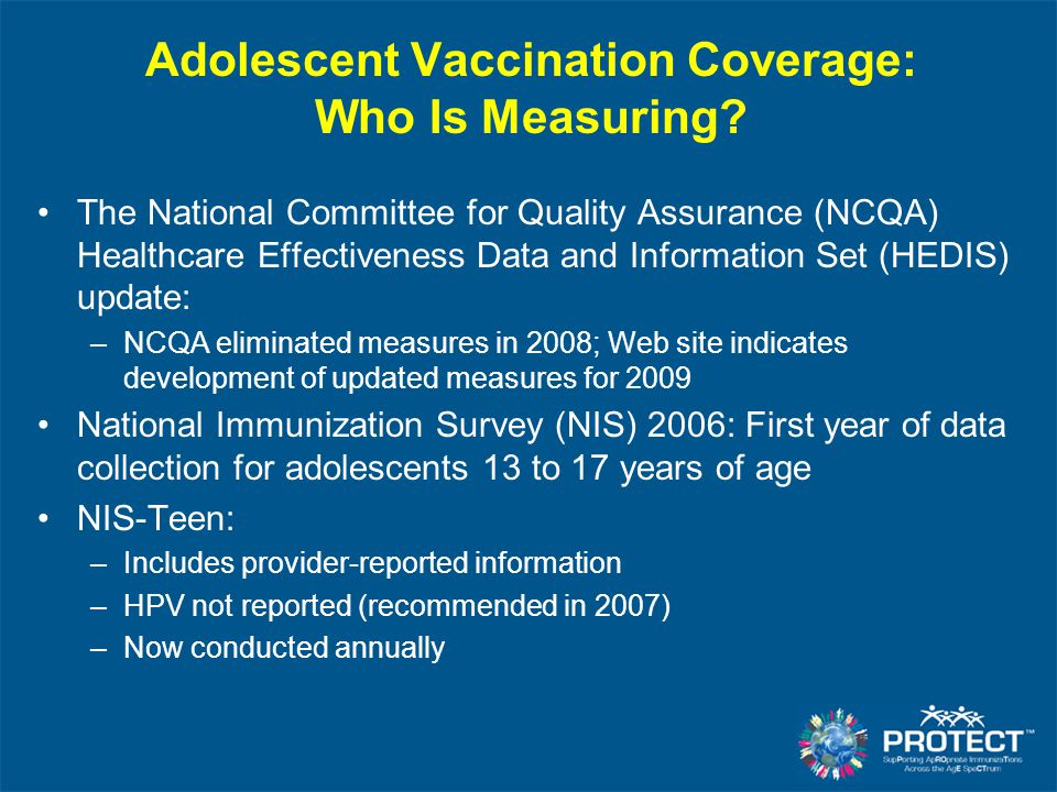 Adolescent Vaccination Coverage: Who Is Measuring