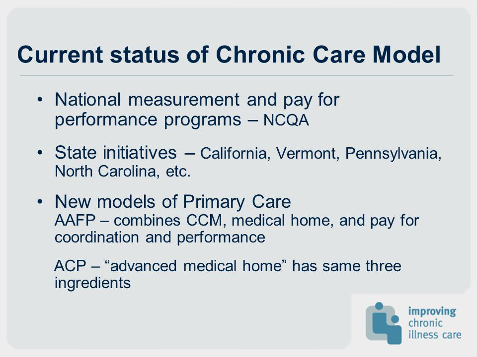 Current status of Chronic Care Model