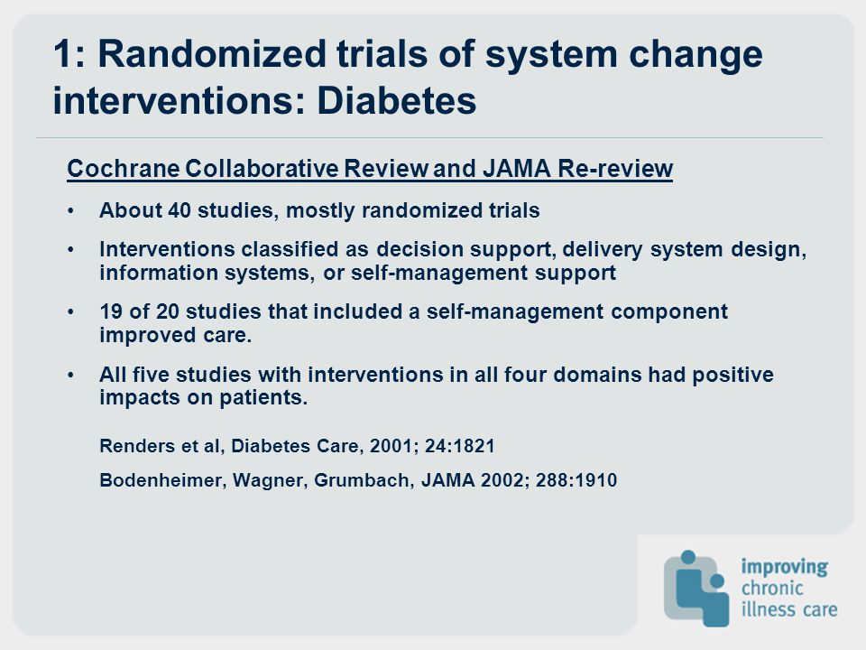 1: Randomized trials of system change interventions: Diabetes