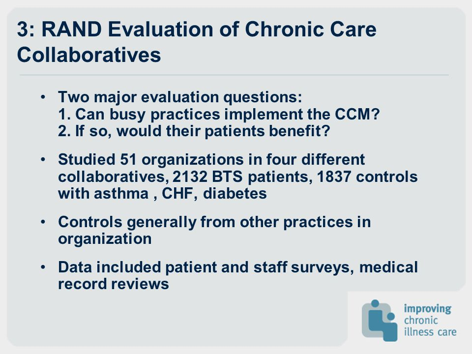 3: RAND Evaluation of Chronic Care Collaboratives