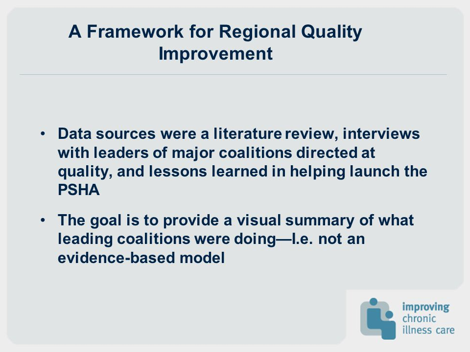 A Framework for Regional Quality Improvement