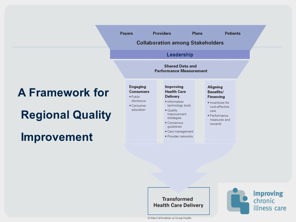 Leadership A Framework for Regional Quality Improvement