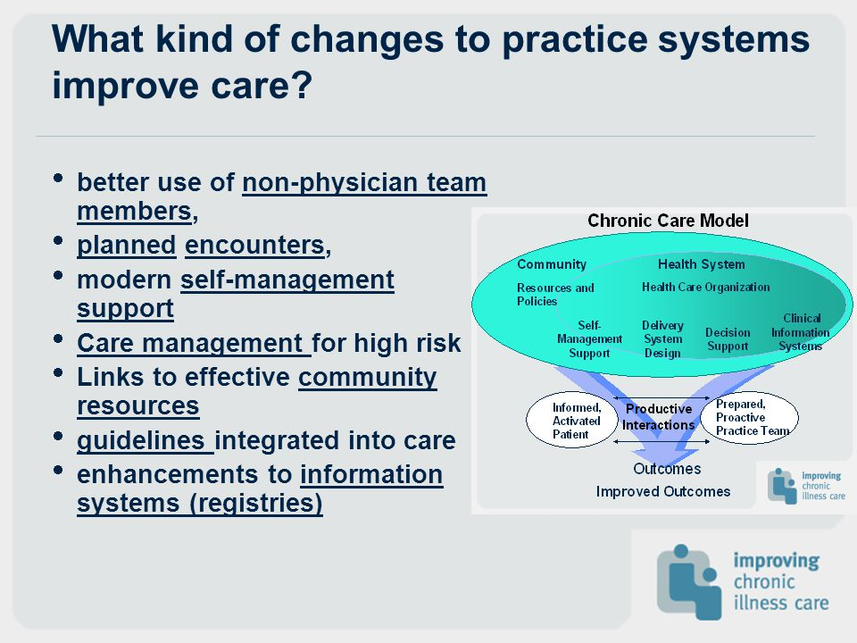 What kind of changes to practice systems improve care
