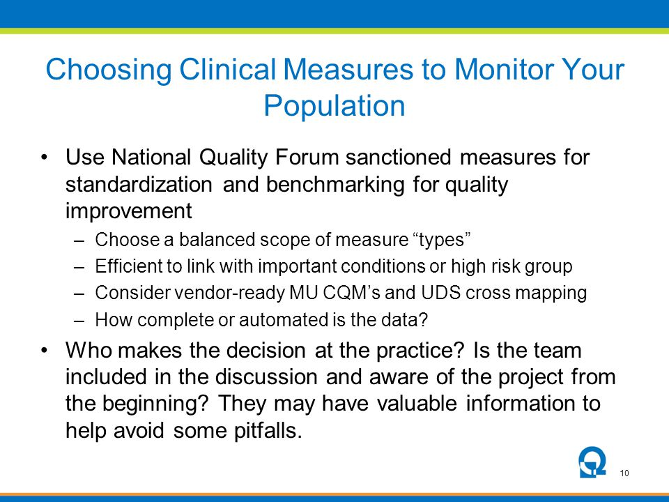 Choosing Clinical Measures to Monitor Your Population