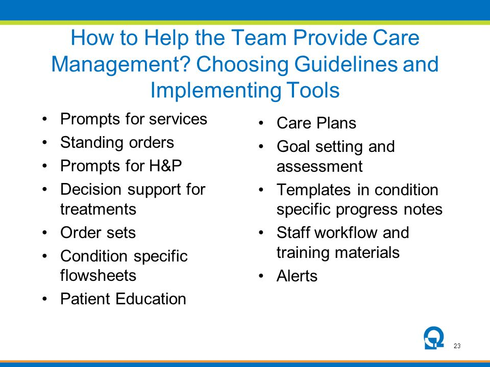 How to Help the Team Provide Care Management