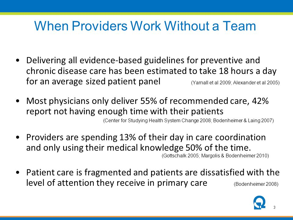 When Providers Work Without a Team