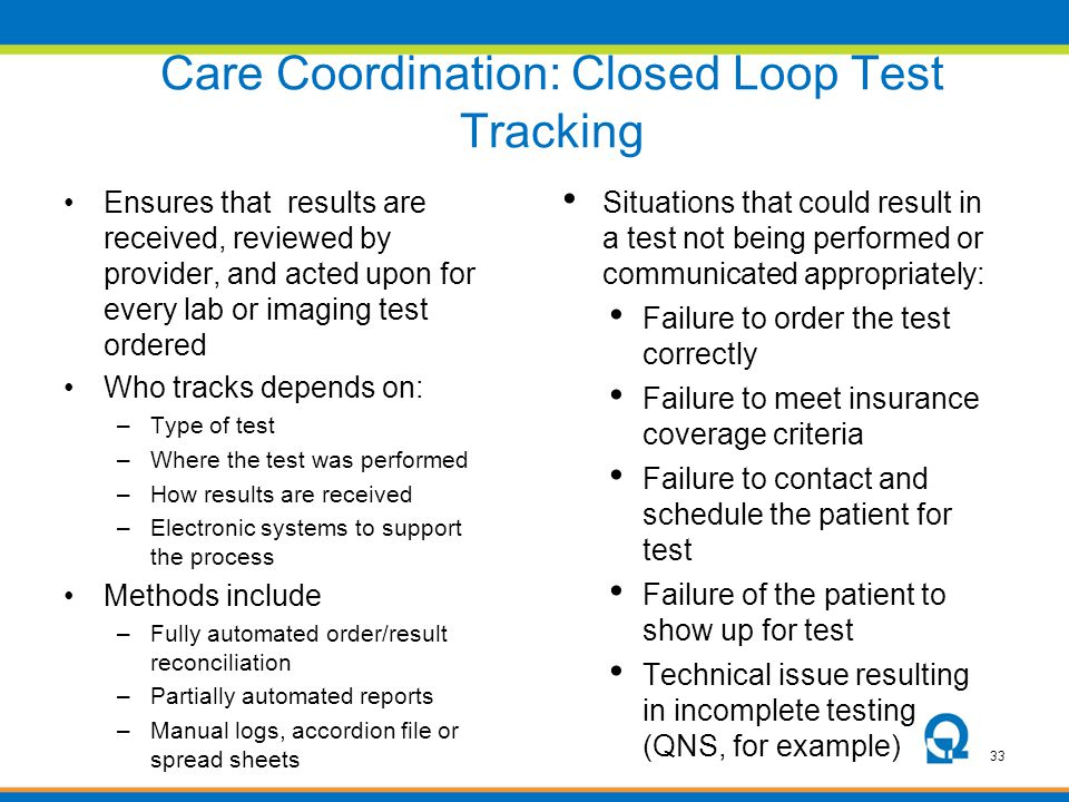 Care Coordination: Closed Loop Test Tracking