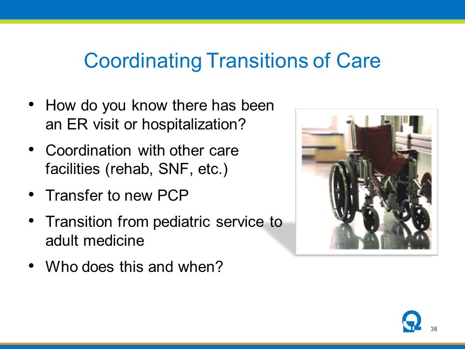 Coordinating Transitions of Care