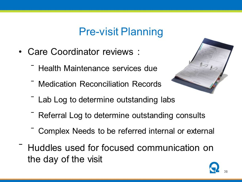 Pre-visit Planning Care Coordinator reviews :