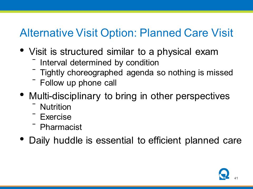 Alternative Visit Option: Planned Care Visit