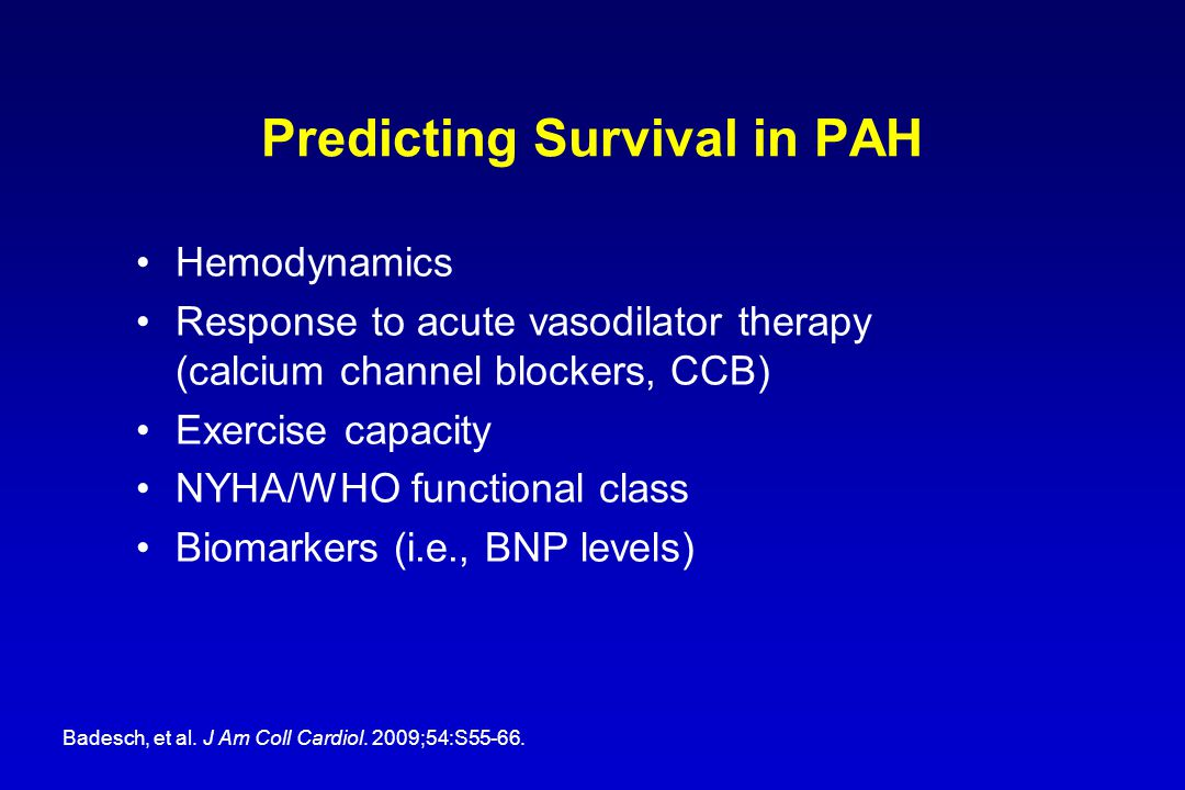 Predicting Survival in PAH
