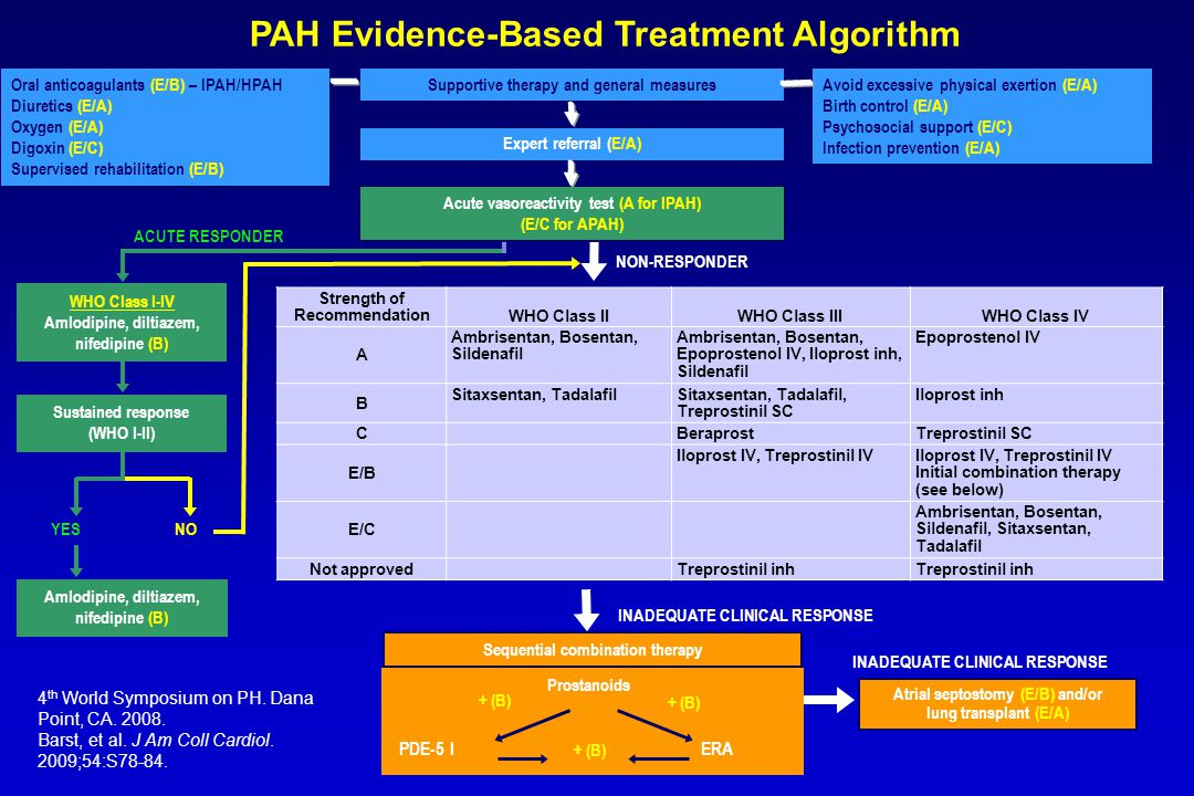 PAH Evidence-Based Treatment Algorithm