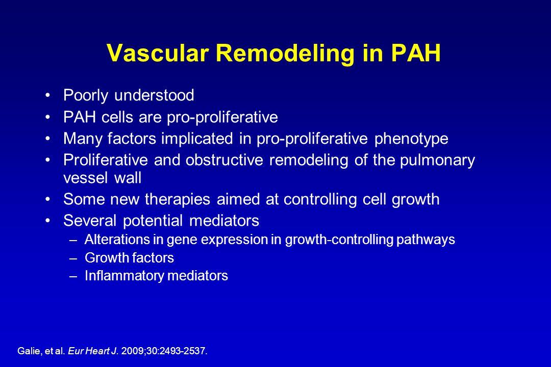 Vascular Remodeling in PAH