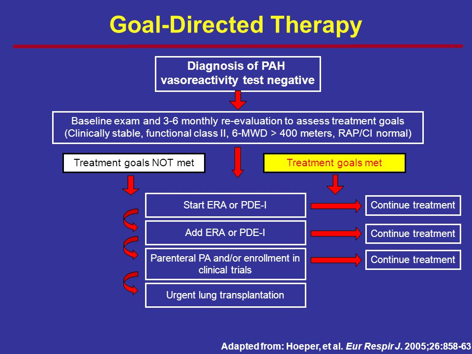 Goal-Directed Therapy