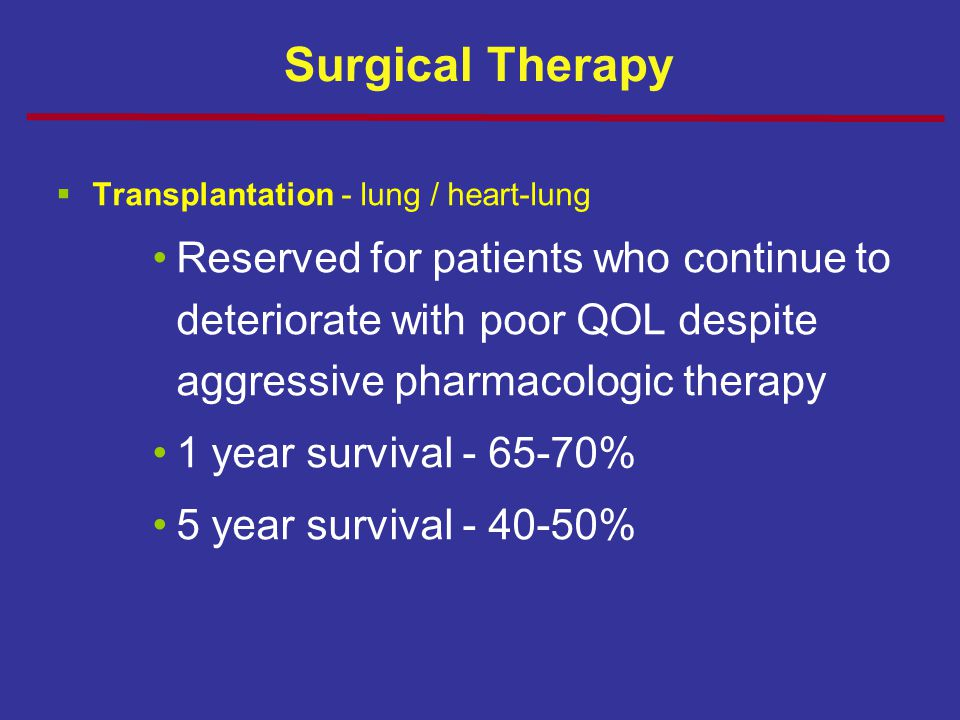Surgical Therapy Transplantation - lung / heart-lung.