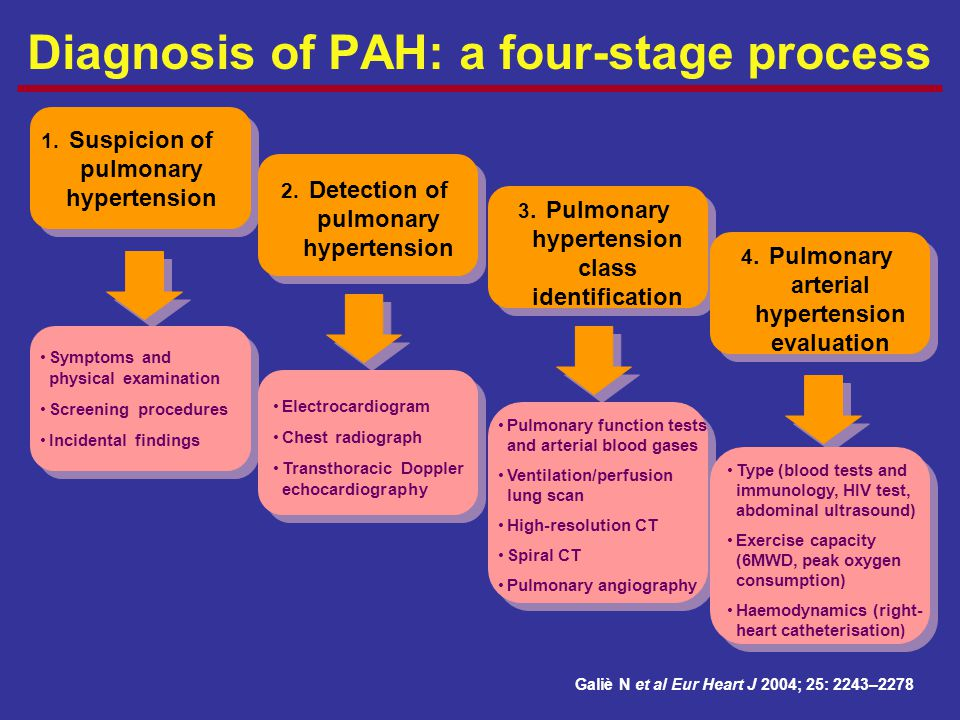 Diagnosis of PAH: a four-stage process