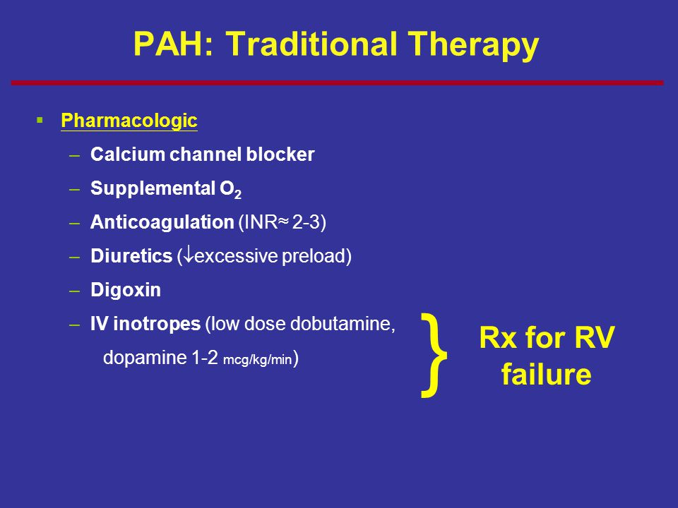 PAH: Traditional Therapy