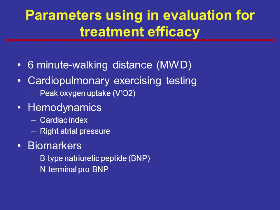 Parameters using in evaluation for treatment efficacy