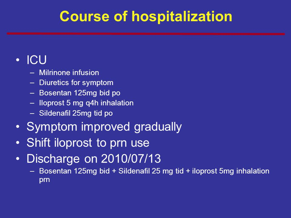 Course of hospitalization