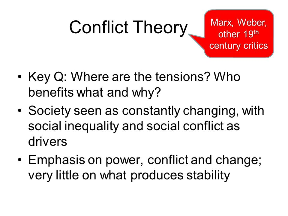Marx, Weber, other 19th century critics