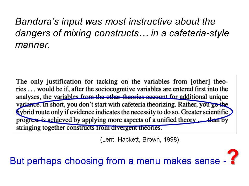 But perhaps choosing from a menu makes sense -
