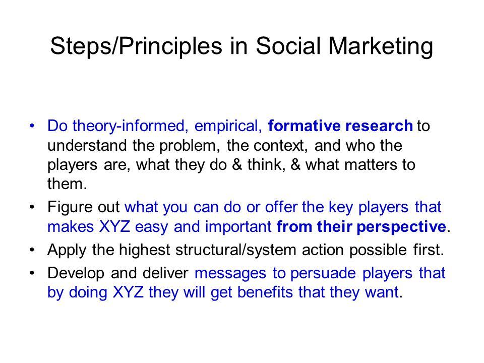 Steps/Principles in Social Marketing