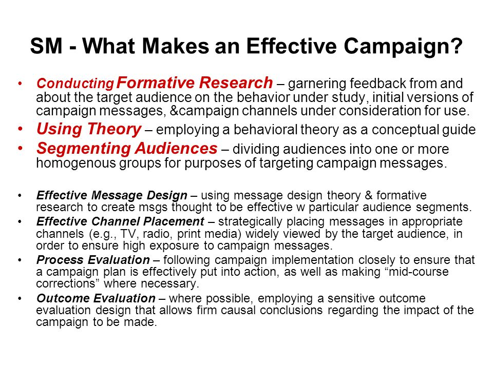 SM - What Makes an Effective Campaign