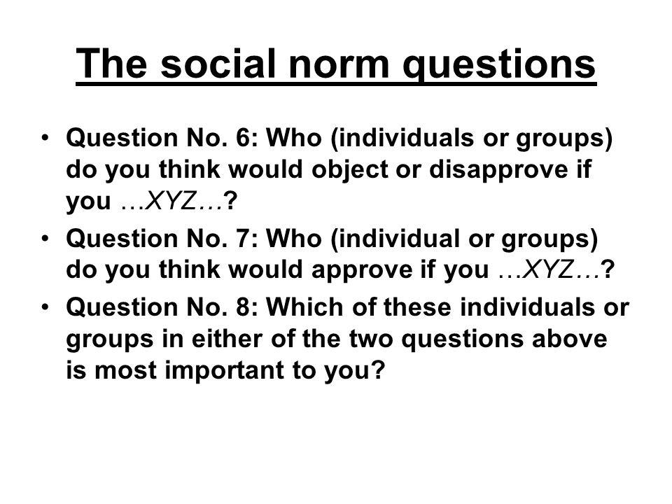 The social norm questions