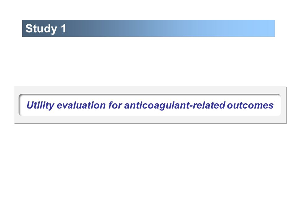 Utility evaluation for anticoagulant-related outcomes