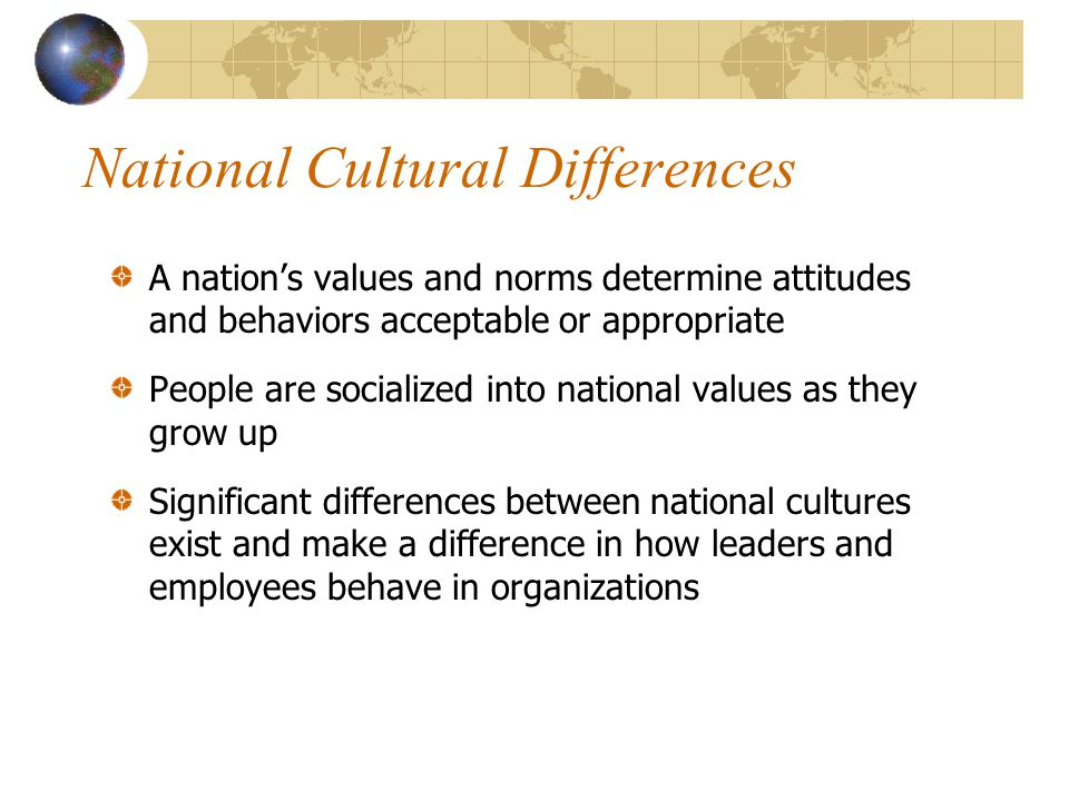 National Cultural Differences
