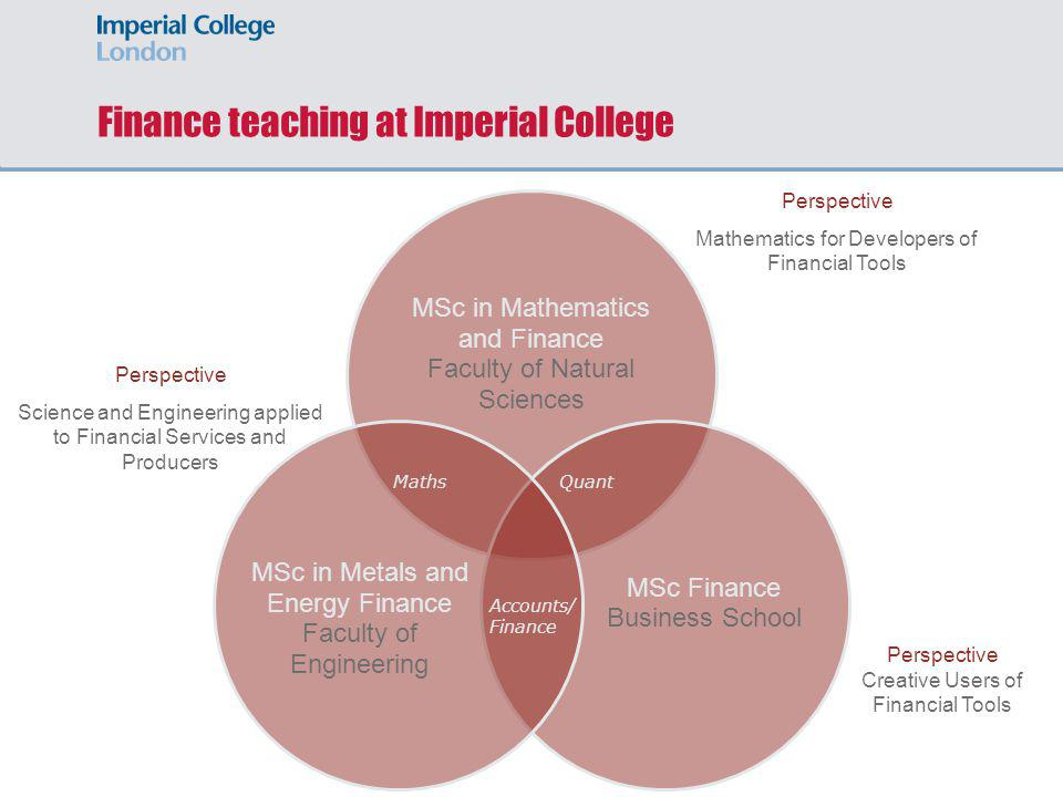 Finance teaching at Imperial College