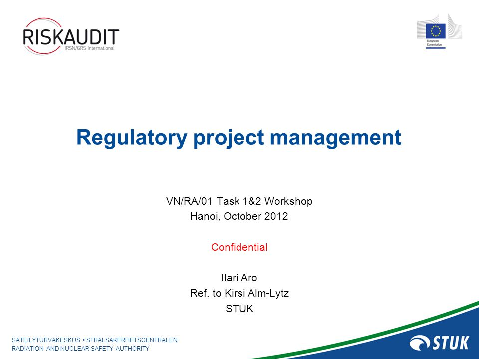 Regulatory project management