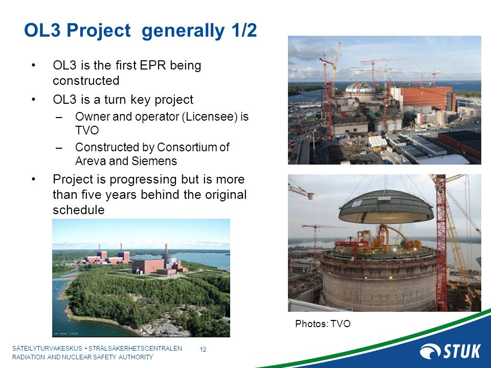 OL3 Project generally 1/2 OL3 is the first EPR being constructed