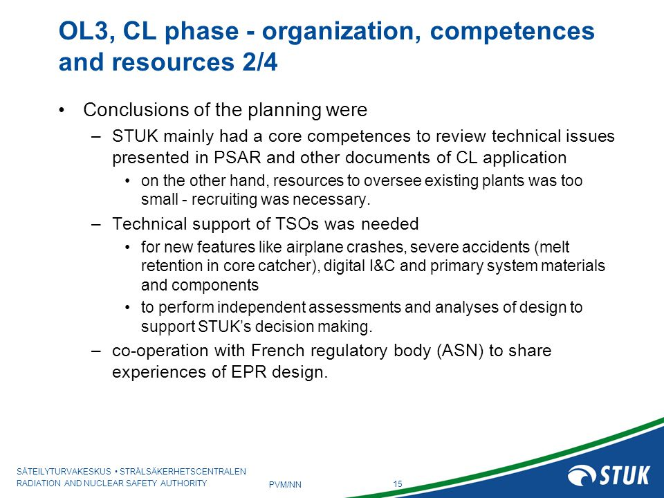 OL3, CL phase - organization, competences and resources 2/4