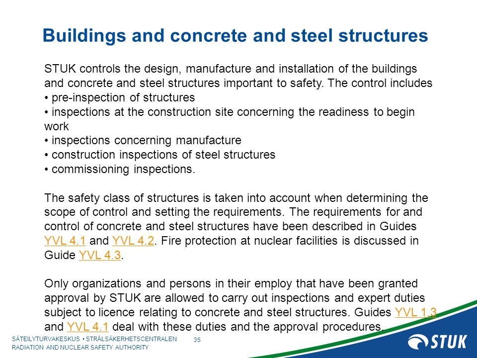 Buildings and concrete and steel structures