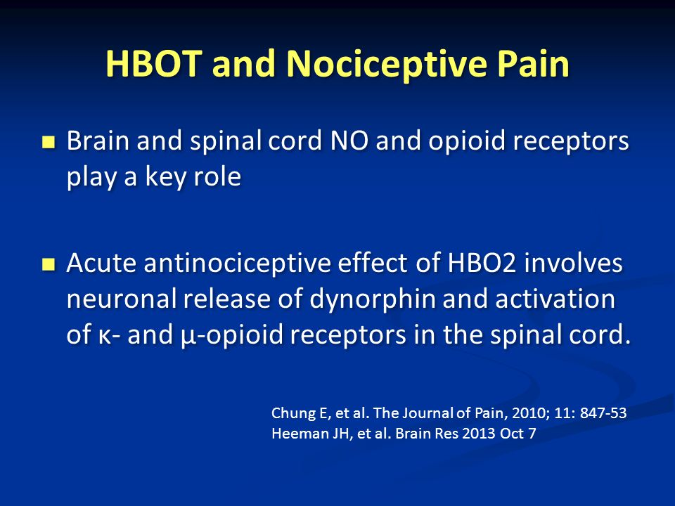 HBOT and Nociceptive Pain
