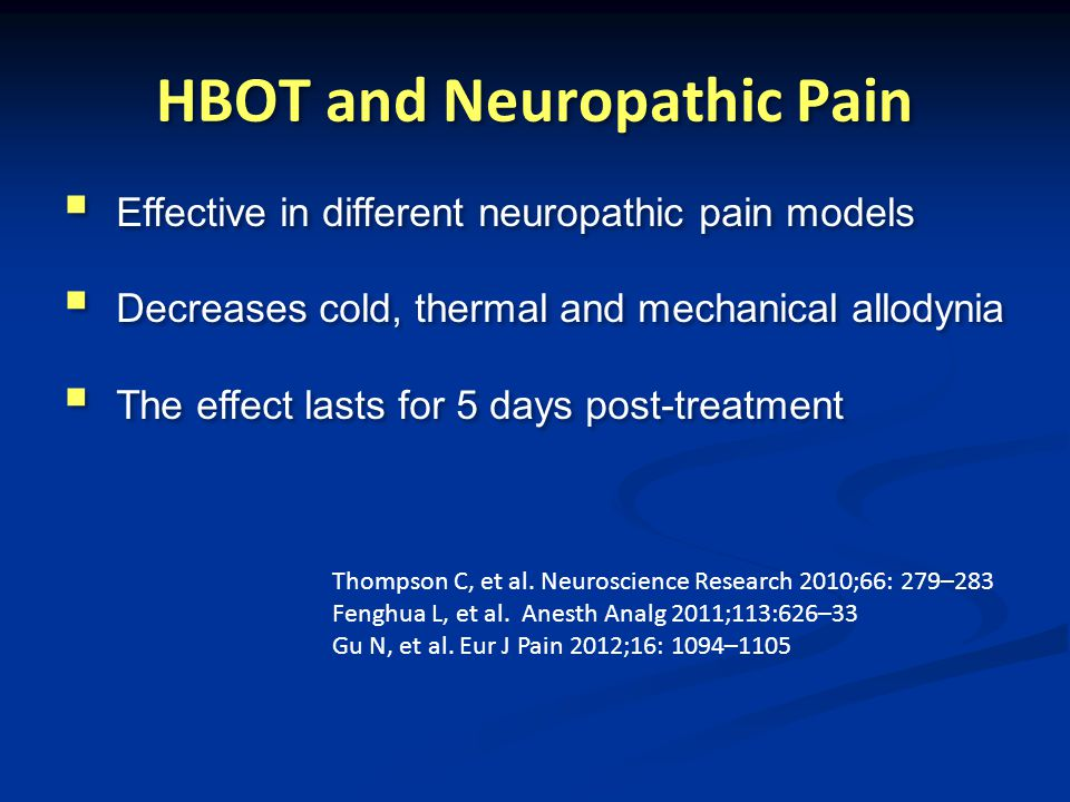 HBOT and Neuropathic Pain