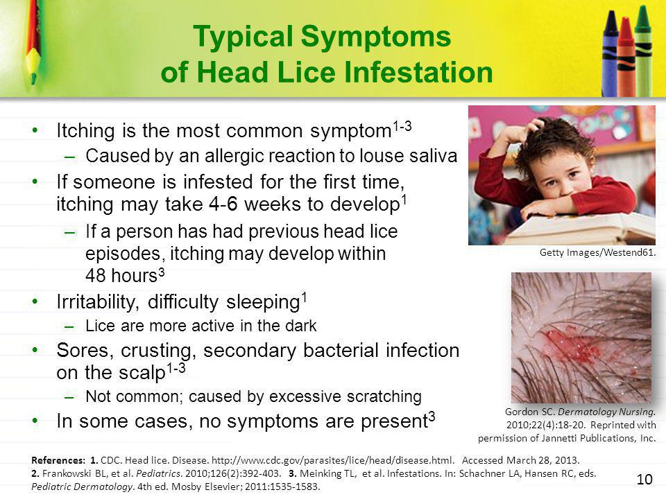 Typical Symptoms of Head Lice Infestation