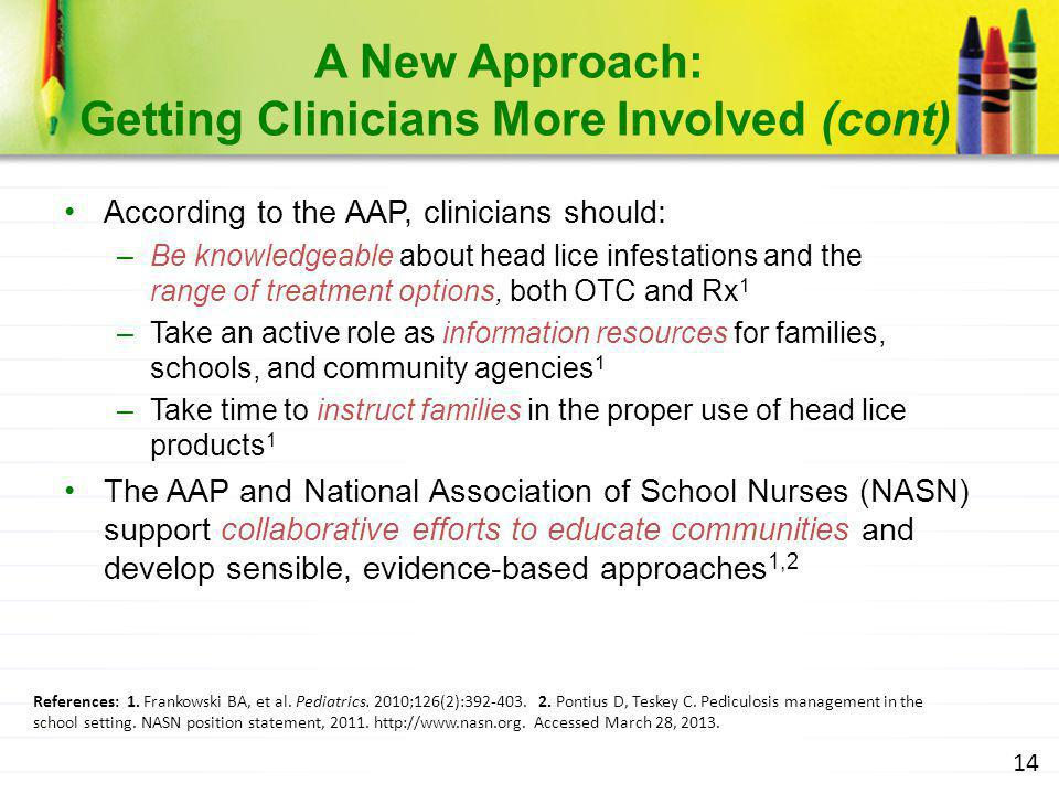 A New Approach: Getting Clinicians More Involved (cont)