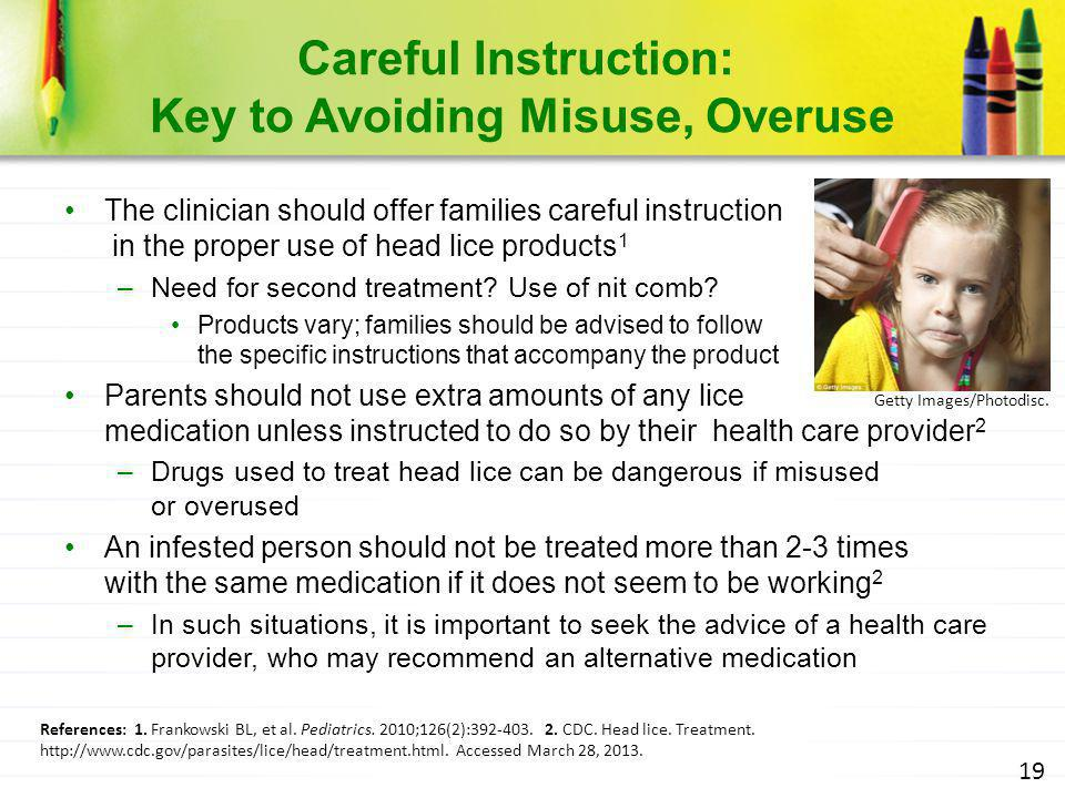 Careful Instruction: Key to Avoiding Misuse, Overuse