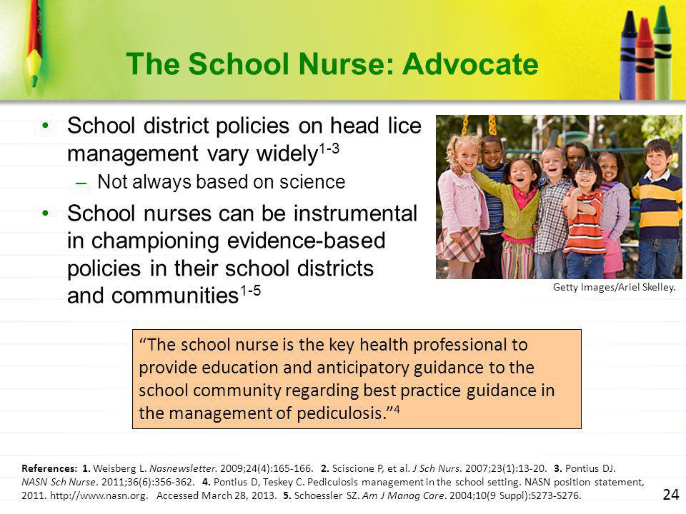 The School Nurse: Advocate