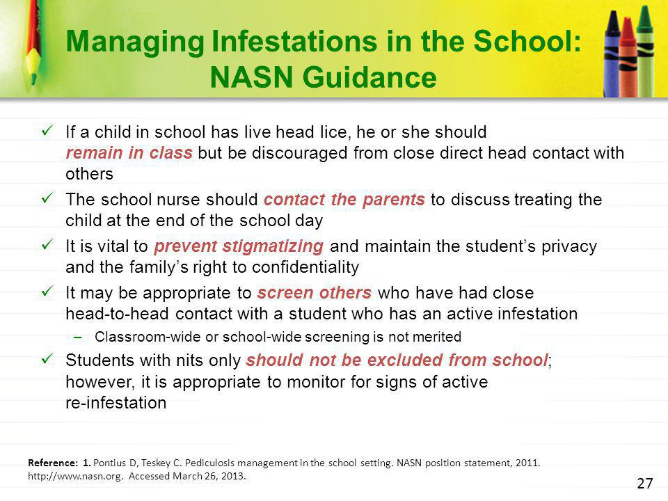 Managing Infestations in the School: NASN Guidance