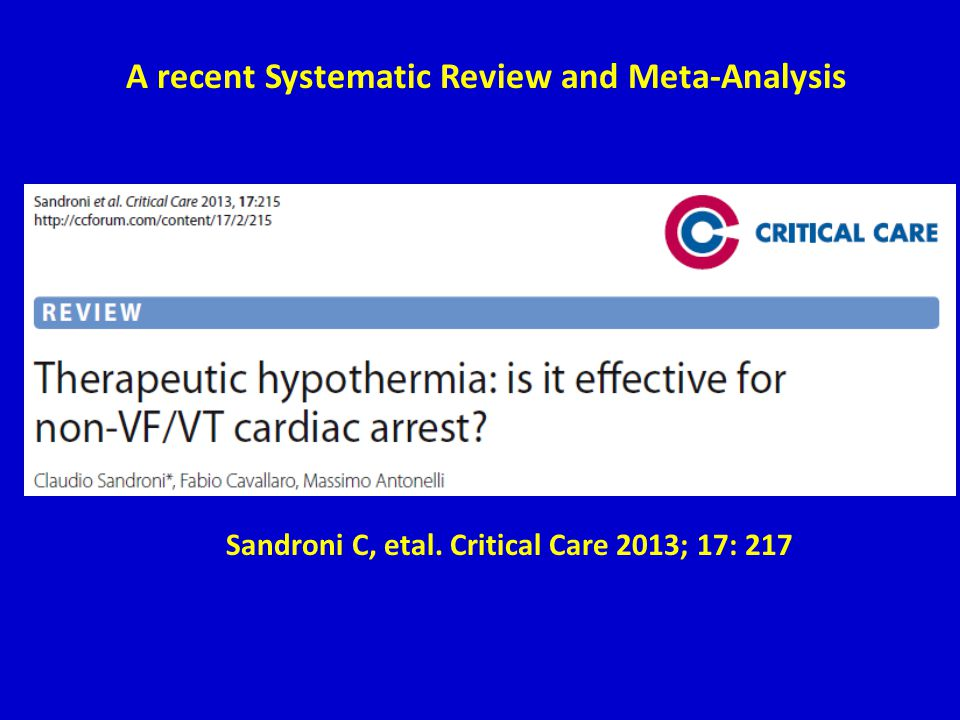A recent Systematic Review and Meta-Analysis