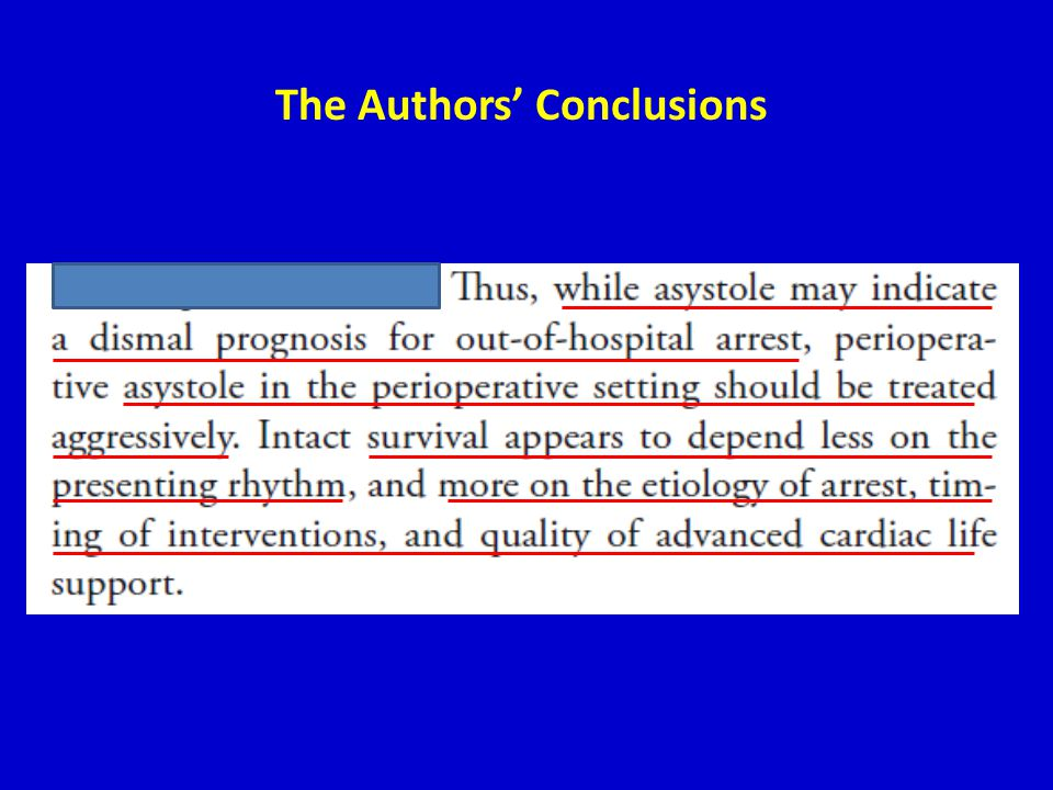 The Authors' Conclusions