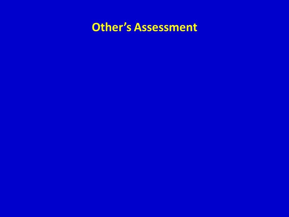 Other's Assessment