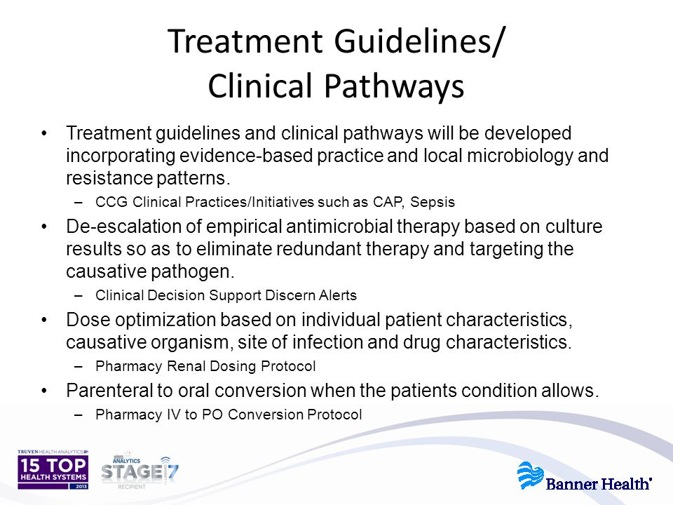 Treatment Guidelines/ Clinical Pathways